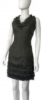 Dolce & Gabbana Black Ruffled Mini Dress