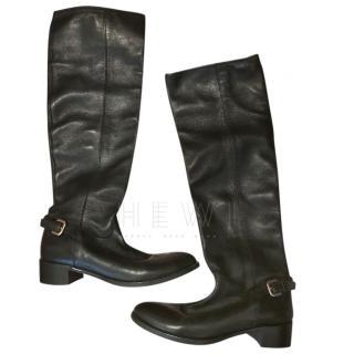 Prada Black Lambskin Boots