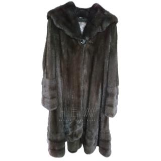 Saga Furs Graphite Full Mink Coat