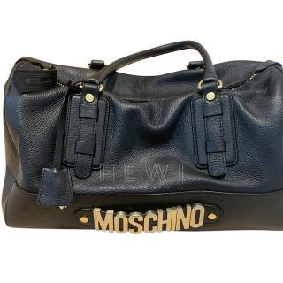 Moschino Black Logo Duffle Bag