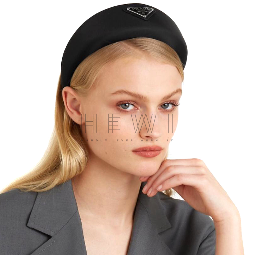 Prada Satin Logo Head Band - Current & Sold Out