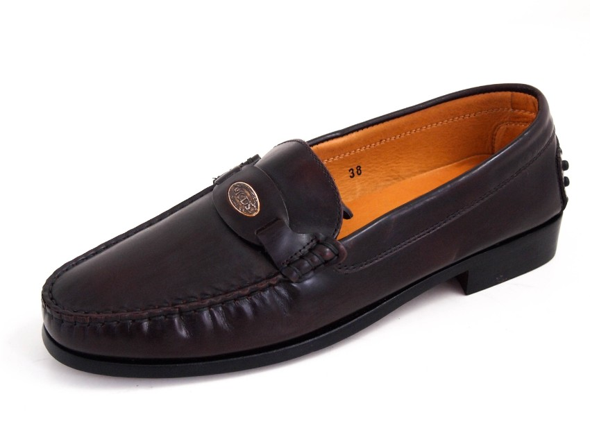 Tod's Brown Leather Mocassin Loafers