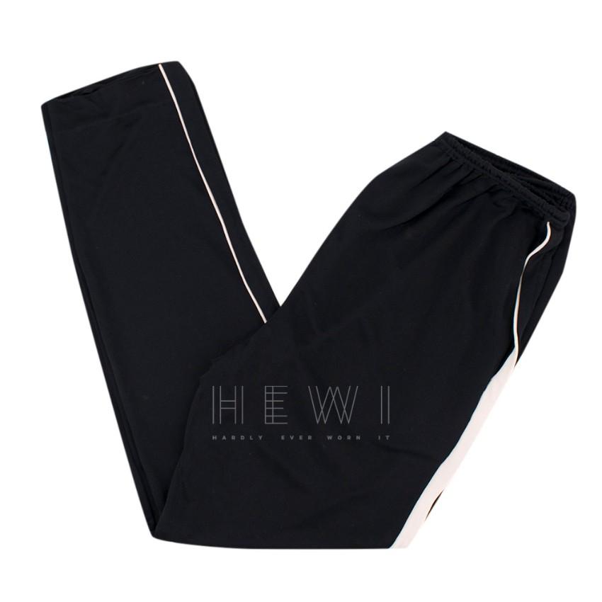 Lanvin Black Pants with Contrast Side Stripe