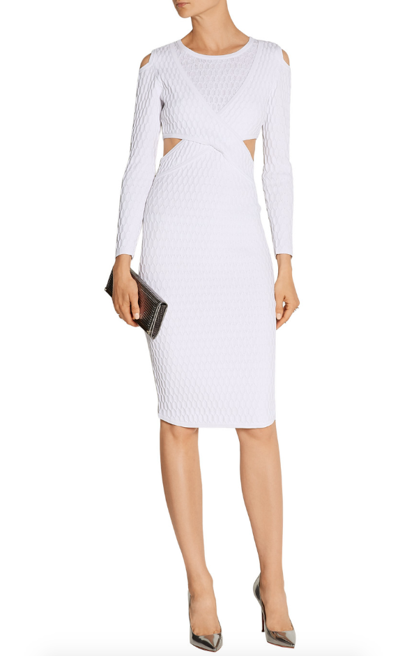 Johnathan Simkai Cutout honeycomb stretch-knit dress