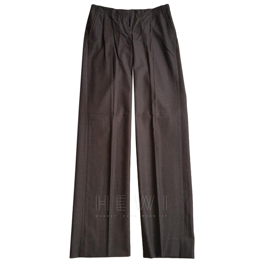 Loro Piana Wool & Angora Straight Leg Trousers