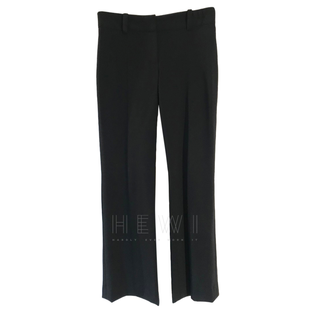 Versace Black Wool Blend Trousers