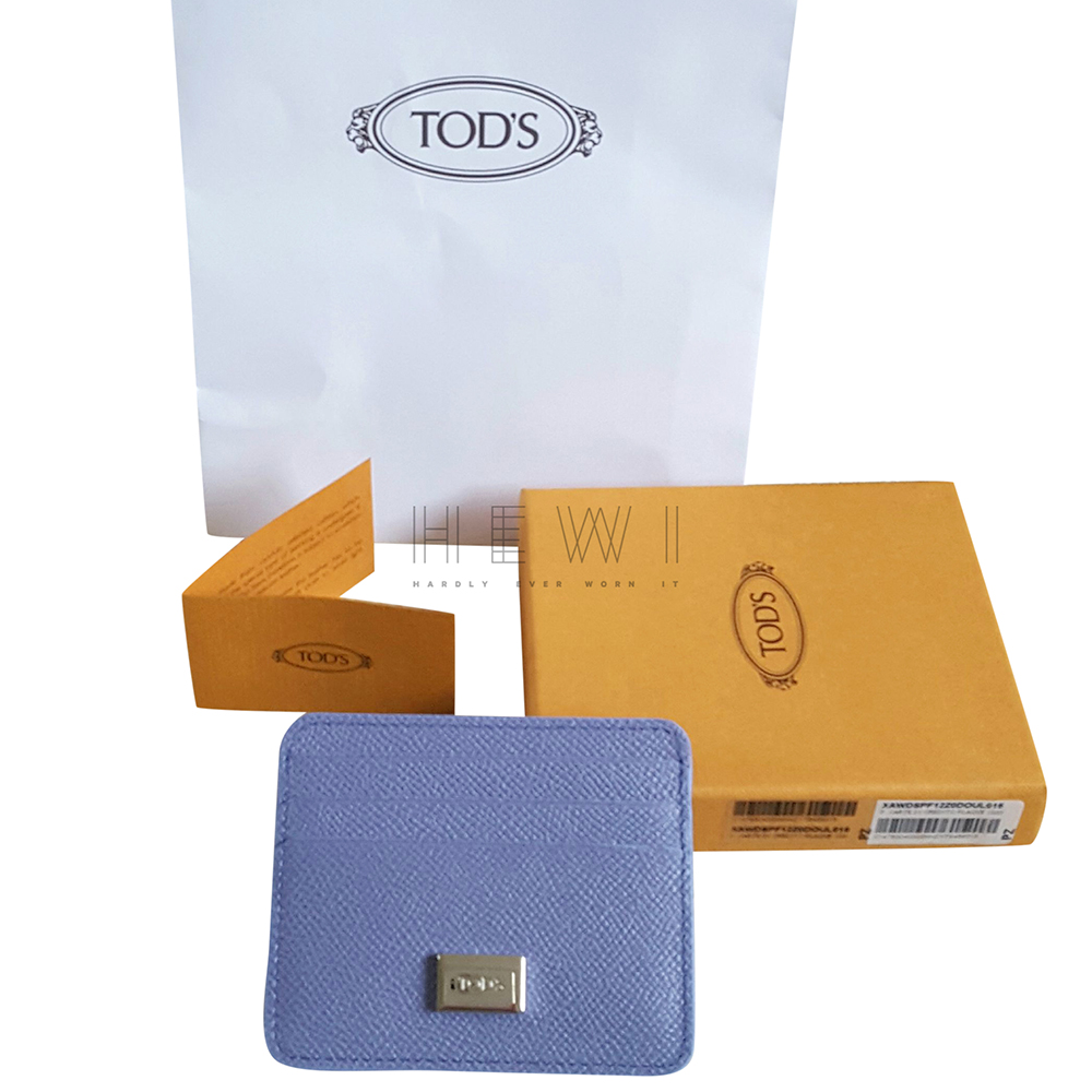 Tod�s lilac grained Leather Card holder