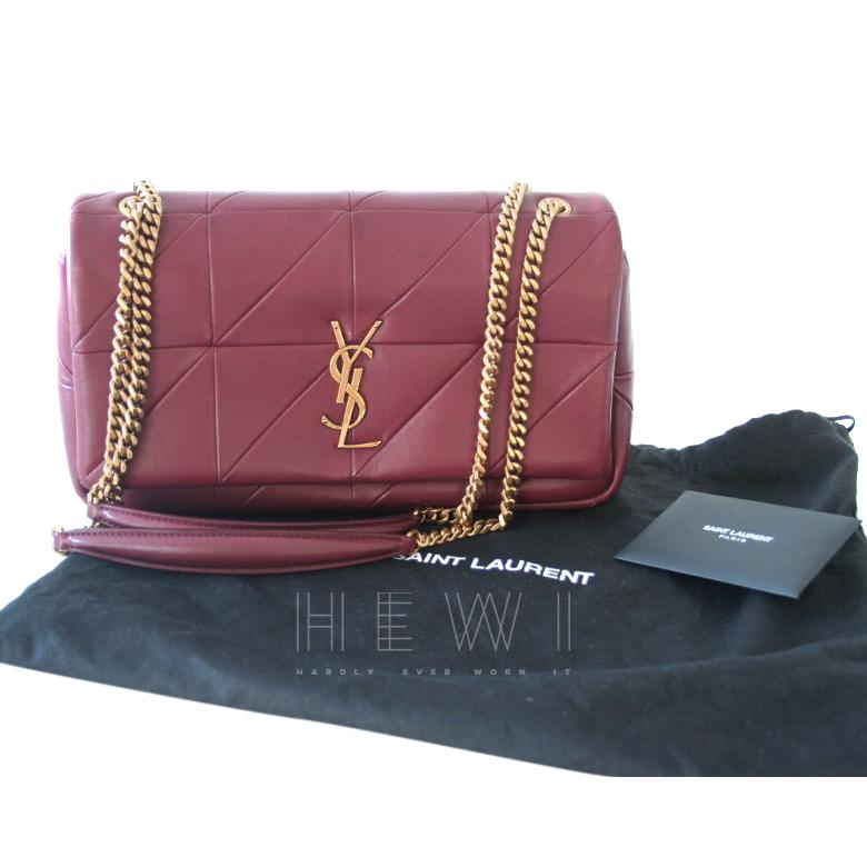 Saint Laurent Burgundy Jamie Medium Shoulder Bag