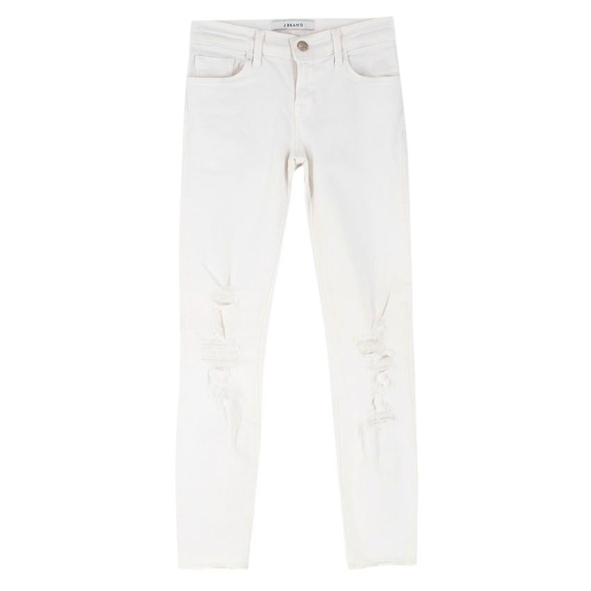 J Brand White Distressed Denim Jeans