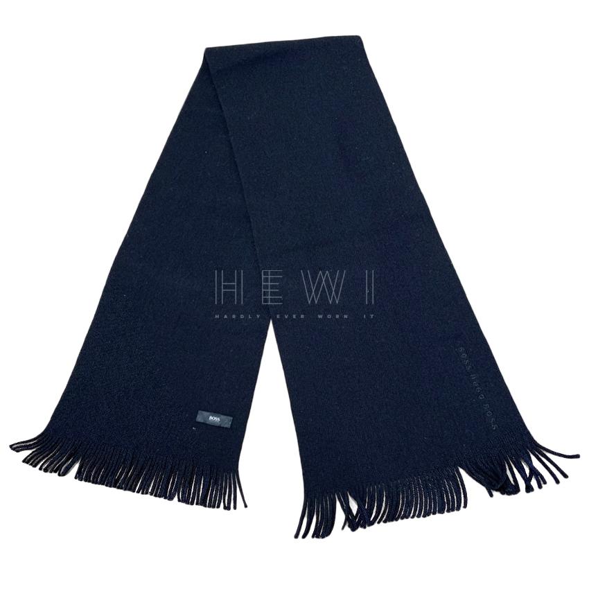 Boss Hugo Boss Black Knit Scarf