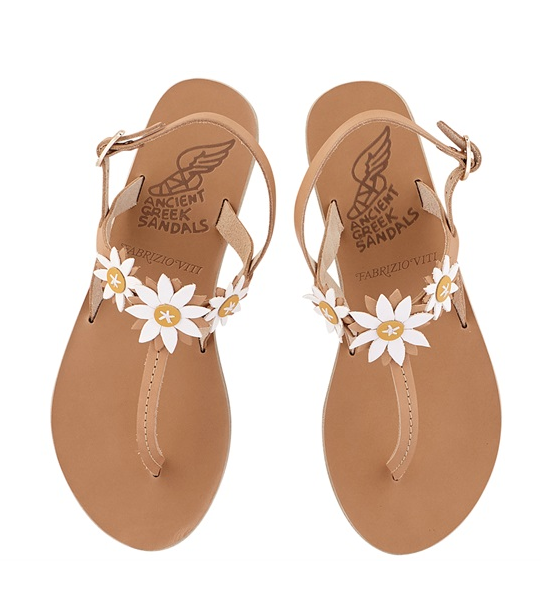 Ancient Greek Sandals X Fabrizio Viti Natural Sylvie Leather Sandals