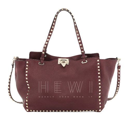 Valentino medium bordeaux Rockstud tote