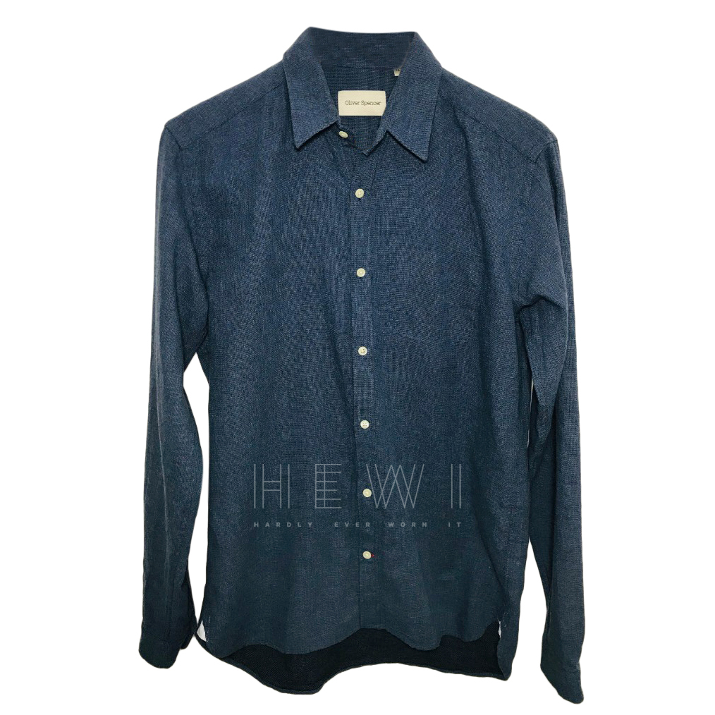 Oliver Spencer Men's Blue Shirt