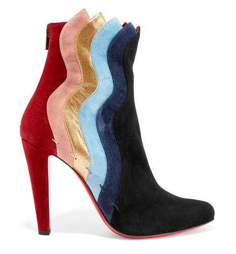 Christian Louboutin Wavy 100 suede ankle boots