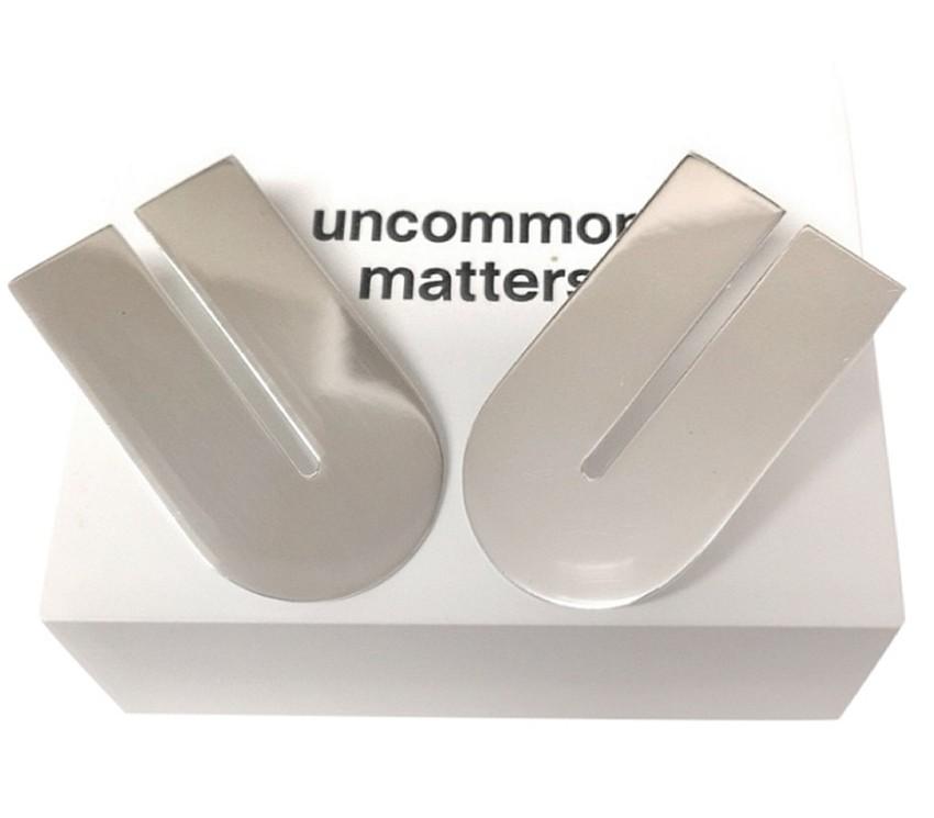 Uncommon Matters Silver Tone U Shape Earrings