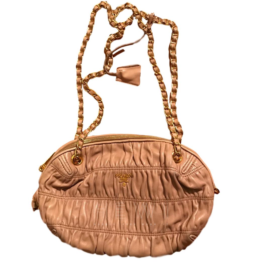 Prada Nude Leather shoulder  Bag