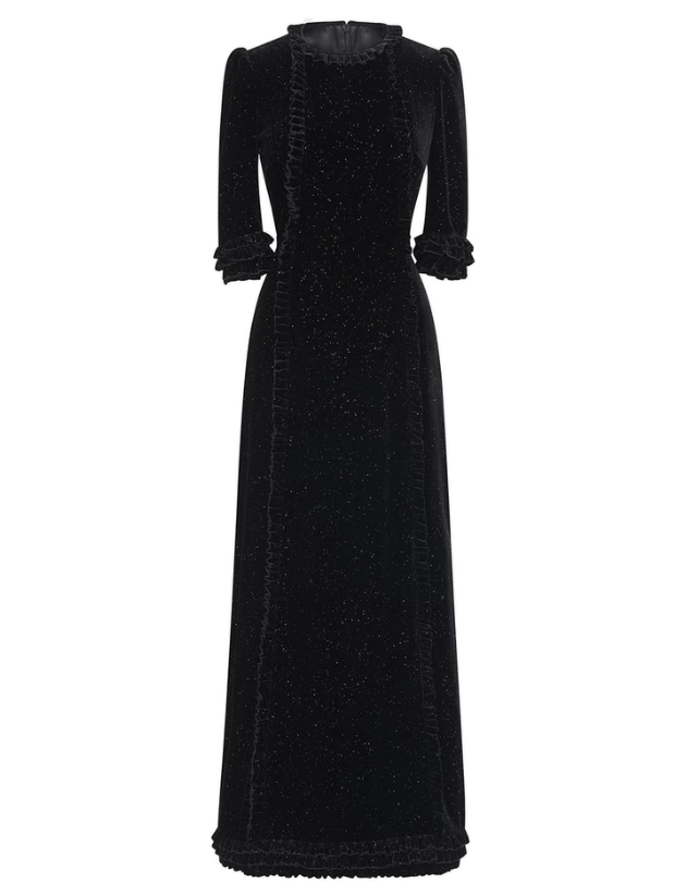 The Vampire's Wife Street Sweeper Sparkle Velvet Cate Dress