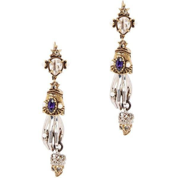 Alexander McQueen King And Queen Hand Drop Earrings