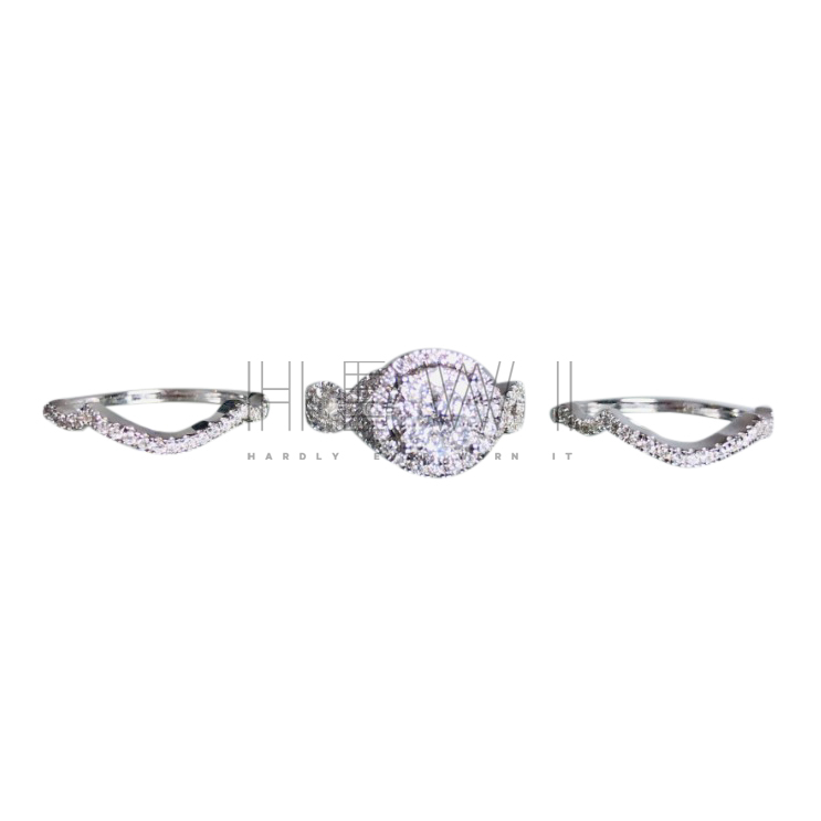 Bespoke Halo Diamond Cluster Ring