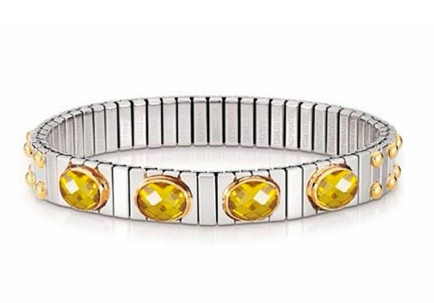 Nomination Yellow Crystal Embellished Bracelet