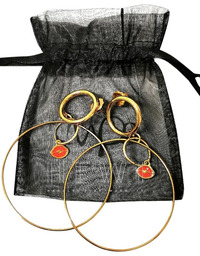 Maria Francesca Pepe Double Hoop Earrings