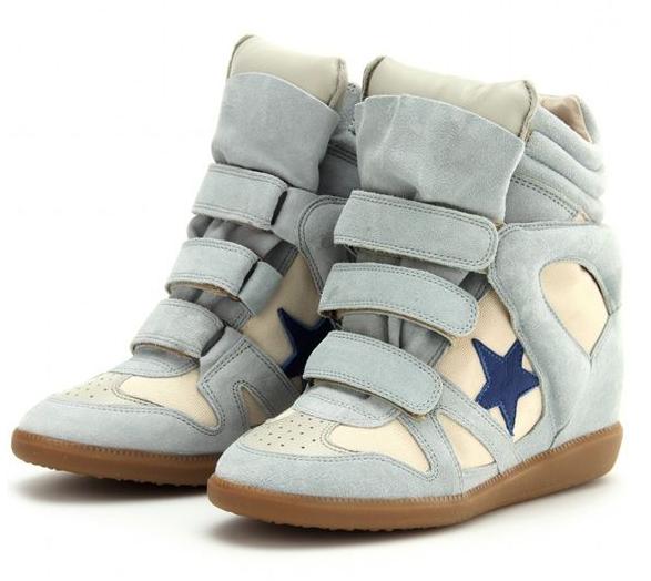 Isabel Marant Bayley Series Blue Star Light Blue Sneakers
