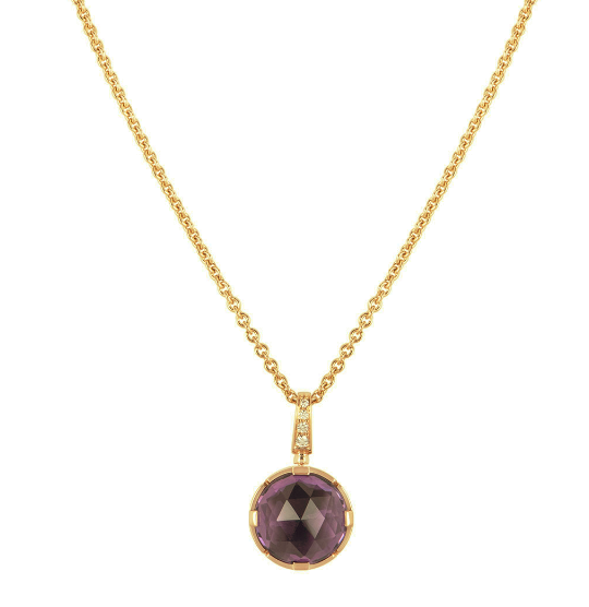 Bvlgari Rose Gold Amethyst Pendant Necklace