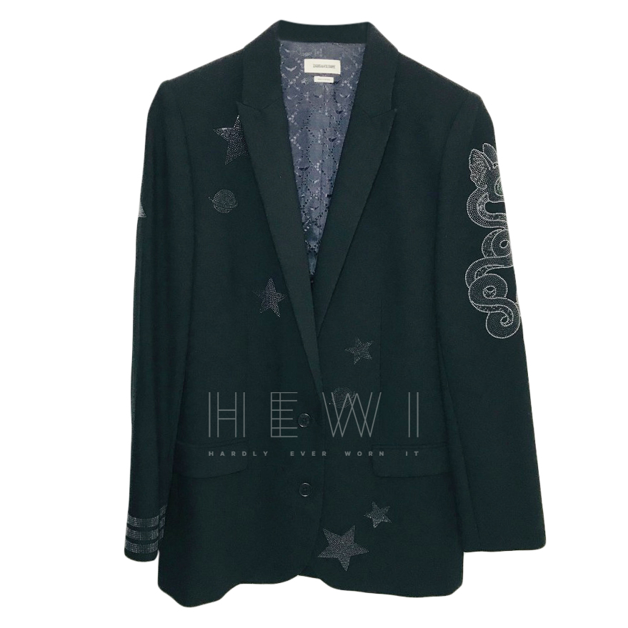 Zadig & Voltaire Viva Crepe Jacket in black