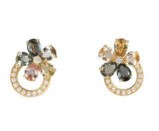 Bvlgari Sapphire Diamond 18 Karat Yellow Gold Earrings