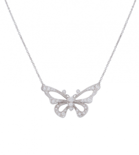 Tiffany & Co. Enchant Platinum Butterfly Diamond Pendant