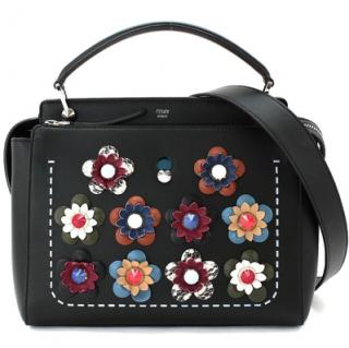 Fendi Black Embroidered Dot Com Bag