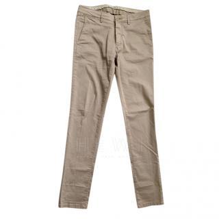 Boggi Stretch cotton & Tencel trousers
