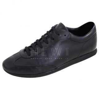 Tod's Black Leather Sneakers