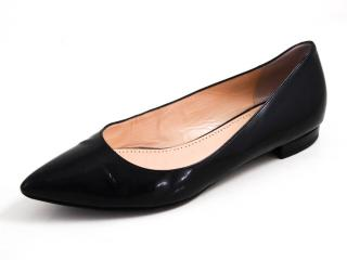Bally Black Point Toe Ballerina Flats