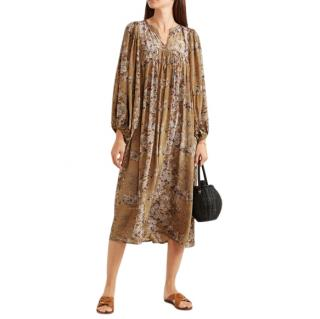 Mes Demoiselles Jalon floral-print crepe midi dress