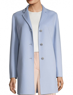 Max Mara Blue Nyssa Notch Lapel Coat