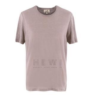 Hermes Taupe Linen T-Shirt