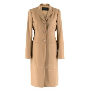 Calvin Klein Collection Camel Wool & Cashmere Blend Coat
