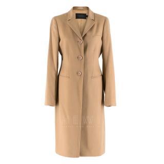 Calvin Klein Collection Camel Wool & Cashmere Blend Coat