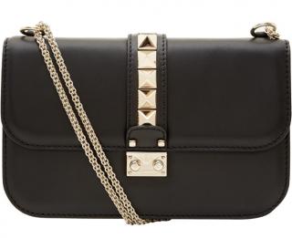 Valentino Medium Black Lock Leather Bag
