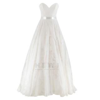Suzanne Neville Cabianca Ivory Silk Organza Wedding Dress