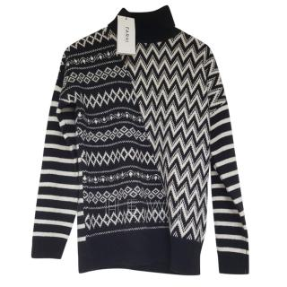 Nicole Farhi Multi-Print Roll Neck Jumper