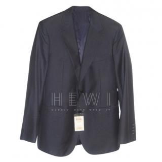 Cerruti 1881 Navy Single Breasted Wool & Silk Jacket