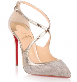 Christian Louboutin Crissos 100 Glitter Sandals