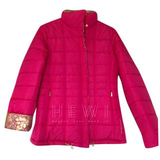 Escada Pink Reversible Puffer Jacket