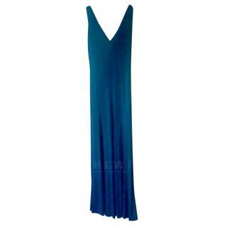 Halston Heritage Teal V-Neck Dress