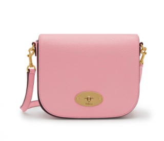 Mulberry Small Darley Satchel In Sorbet Pink Small Classic Grain