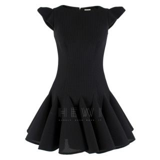 Philip Armstrong Black Mesh Neoprene Skater Dress