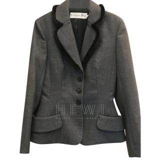 Christian Dior Grey Tailored Jacket