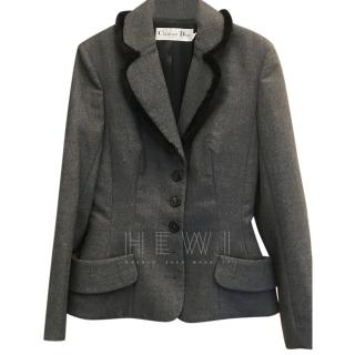 Christian Dior Grey Tailored Jacket